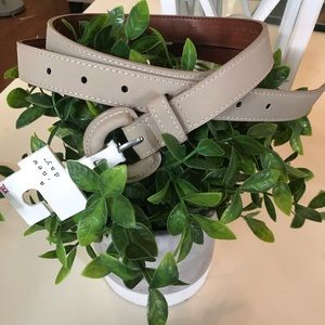 NWT A New Day taupe bonded leather belt XXL